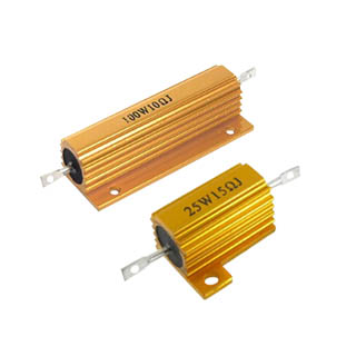 Golden Aluminum Housed resistor for led